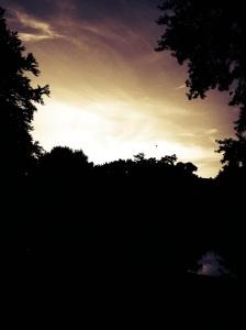 Sonnenuntergang.